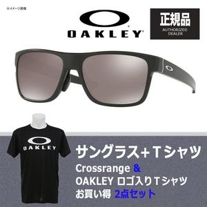 【送料無料】OAKLEY(オークリー) Crossrange(クロスレンジ) + Tシャツ 【お買い得2点セット】 プリズム ブラック ポラライズド