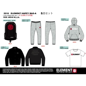 2018 ELEMENT HAPPY BAG メンズ5点セット M MIX