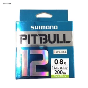 アウトドア&フィッシング ナチュラムシマノ(SHIMANO) PL-M62R PITBULL(ピットブル)12 200m 0.8号 サイトライム 57295