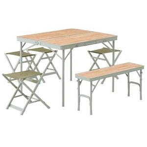 ロゴス(LOGOS) Life ベンチテーブルセット6 73183014 テーブル・チェアセット