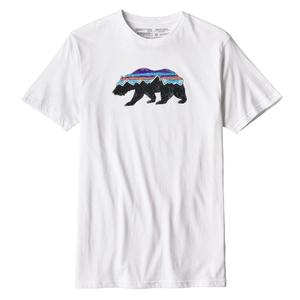 パタゴニア(patagonia) メンズ フィッツロイ ベア オーガニック Tシャツ S WHI(White) 39143