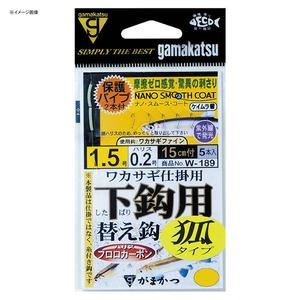 がまかつ(Gamakatsu) 糸付 ワカサギ仕掛用下鈎(狐タイプ) W189 60032