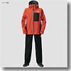 DR−1908 ゴアテックス プロダクト パックライト レインスーツ M ブラッドオレンジ
