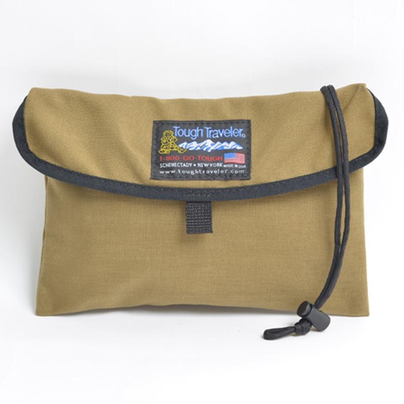 Tough Traveler(タフ トラベラー) Flap Neck Pouch(フラップネックポーチ) L KHAKI TT-0007