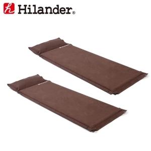 Hilander(ハイランダー) スエードインフレーターマット(枕付きタイプ) 5.0cm【お得な2点セット】 UK-2