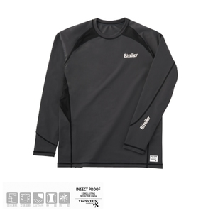 リバレイ(Rivalley) RV 防蚊UVラッシュガードII 5322 フィッシングシャツ