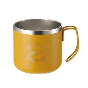 キャプテンスタッグ(CAPTAIN STAG) モンテ ダブルステンレスマグカップ350 UE-3434 ステンレス製マグカップ