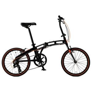 【送料無料】ドッペルギャンガー(DOPPELGANGER) 20インチ折りたたみ自転車 ブラックxオレンジ 202-S-DP
