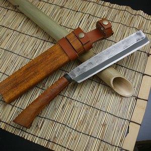 佐治武士 遊々ナタ 梨地 片刃 NO.282 和風刃物