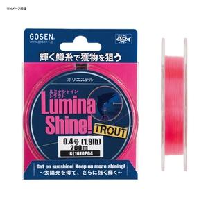 ゴーセン(GOSEN) ルミナシャイントラウト 200M 0.2号 ピンク GL1010P02