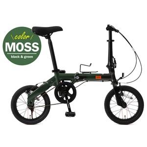 【送料無料】ドッペルギャンガー(DOPPELGANGER) 14インチ折りたたみ自転車 GR(ブラックxグリーン) 140-S-GR
