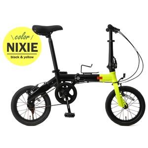 【送料無料】ドッペルギャンガー(DOPPELGANGER) 14インチ折りたたみ自転車 YL(ネオンイエローxブラック) 140-S-YL