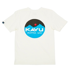 KAVU(カブー) マウンテンロゴTEE Men's L White 19820422010007