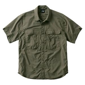 THE NORTH FACE(ザ・ノースフェイス) S/S MERIDIAN SHIRT(ショートスリーブメリディアンシャツ)Men's NR21801 メンズ半袖シャツ
