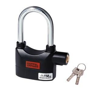 ドッペルギャンガー(DOPPELGANGER) アラームde南京錠 ブラック DKL450-BK