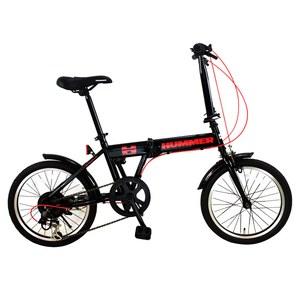 【送料無料】HUMMER(ハマー) 折りたたみ自転車 18インチ ブラック FDB186 IW-III