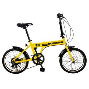 【送料無料】HUMMER(ハマー) 折りたたみ自転車 18インチ イエロー FDB186 IW-III