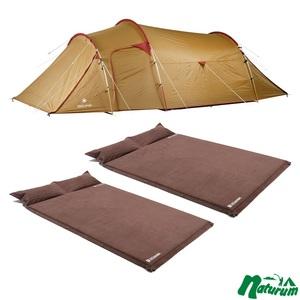 スノーピーク(snow peak) ヴォールト+キャンプ用スエードインフレーターマット 枕付きタイプ 5.0cm×2【3点セット】 SDE-080 ファミリードームテント