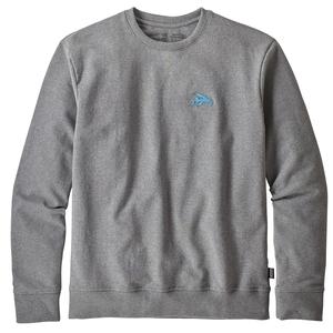 【送料無料】パタゴニア(patagonia) スモール フライング フィッシュ アップライザル クルー スウェットシャツ Men's S GLH(Gravel Heather) 39542