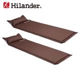 Hilander(ハイランダー) キャンプ用インフレーターマット(枕付きタイプ) 4.0cm×2【お得な2点セット】 UK-8 インフレータブルマット