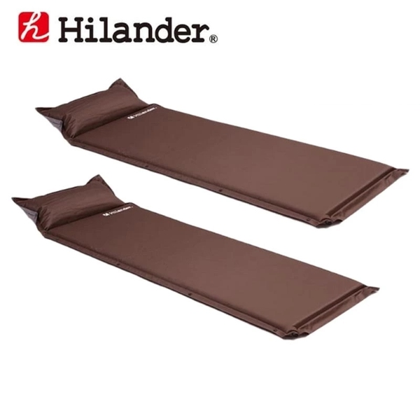 Hilander(ハイランダー) インフレーターマット(枕付きタイプ) 4.0cm×2【お得な2点セット】 UK-8 インフレータブルマット