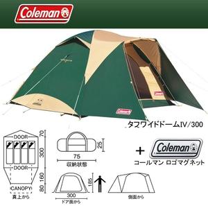 Coleman(コールマン) タフワイドドームIV/300+ロゴマグネット【お得な2点セット】 2000017860 ファミリードームテント