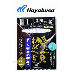 ハヤブサ(Hayabusa) 瞬貫わかさぎ ドーム船 秋田キツネ型 4本 鈎1/ハリス0.3 C259