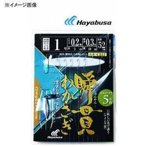 ハヤブサ(Hayabusa) 瞬貫わかさぎ 秋田キツネ型5本 オモリ付 鈎0.8ハリス0.2 0.2 C257