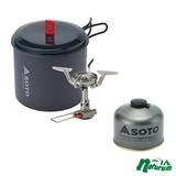 SOTO アミカスポットコンボ+パワーガス250トリプルミックス【お得な2点セット】 SOD-320PC+SOD-725T ガス式