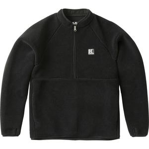 HE51863 FIBERPILE ハーフジップ ジャケット L K(ブラック)