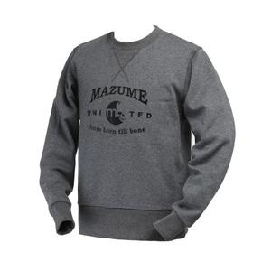 【送料無料】MAZUME(マズメ) ウォームアップトレーナー LL チャコール MZAP-398-03