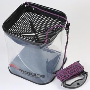 MAZUME(マズメ) 観察できる水くみバケツ MZAS-386-01 バッカン・バケツ・エサ箱