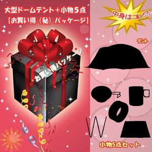 ナチュラム 大型ドームテント+小物5点【お買い得(秘)パッケージ】 ファミリードームテント