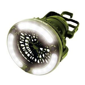 アウトドアマン(OUTDOOR MAN) ライト&ファン 単一電池式 KK-00363B