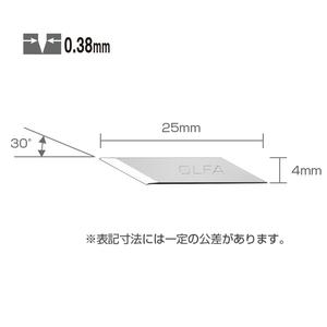 オルファ(OLFA) デザイナーズナイフ替刃 30枚入 25.1mm XB216
