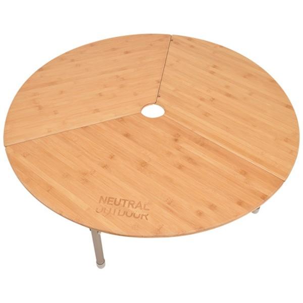 NEUTRAL OUTDOOR(ニュートラル アウトドア) NT-BT12 バンブーラウンドテーブル 44392 キャンプテーブル