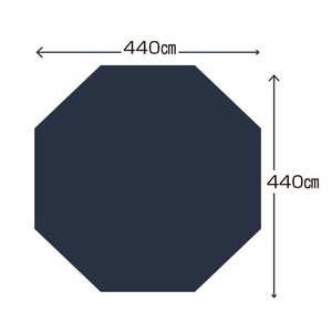 キャプテンスタッグ(CAPTAIN STAG) テントグランドシートUA-47DXオクタ460用 UA-4529