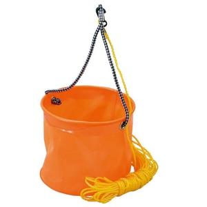 プロマリン(PRO MARINE) EVA反転バケツ 丸(ロープ付) 24cm オレンジ AEC020-24