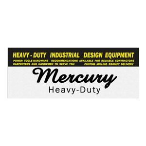 MERCURY(マーキュリー) ステッカー 12.5×4.8 TAG BLACK ME044730