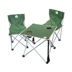 ハック(HAC) 折りたたみチェア&テーブルセット HAC2-0260-green