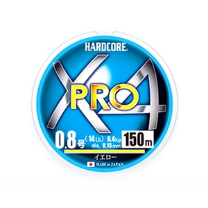 デュエル(DUEL) HARDCORE X4 PRO(ハードコア X4プロ) 150m H3863-Y