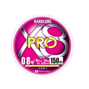 デュエル(DUEL) HARDCORE X8 PRO(ハードコア X8プロ) 150m 1.2号 イエロー H3881-Y