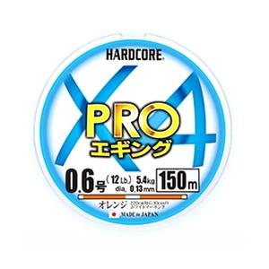 デュエル(DUEL) HARDCORE X4 PRO(ハードコア X4プロ) エギング 150m 0.8号 オレンジホワイトマーキング H3906-OWM