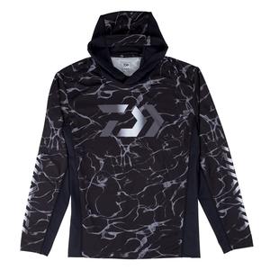 【送料無料】ダイワ(Daiwa) DE-37009 フーディーロングスリーブ ゲームシャツ XL スプラッシュブラック 08331873