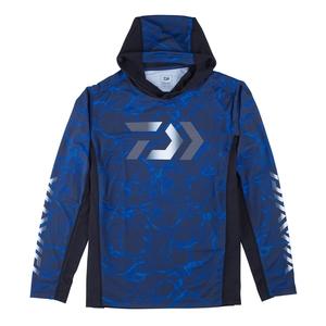 【送料無料】ダイワ(Daiwa) DE-37009 フーディーロングスリーブ ゲームシャツ M スプラッシュブルー 08331875
