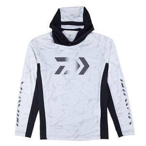 【送料無料】ダイワ(Daiwa) DE-37009 フーディーロングスリーブ ゲームシャツ XL スプラッシュホワイト 08331886