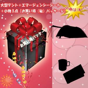ナチュラム 大型テント+エマージェンシーシート+小物1点【お買い得(秘)パッケージ】