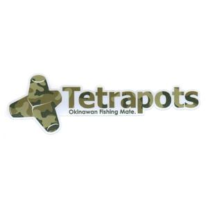 テトラポッツ(Tetrapots) カットロゴステッカー S 迷彩 TPG-005