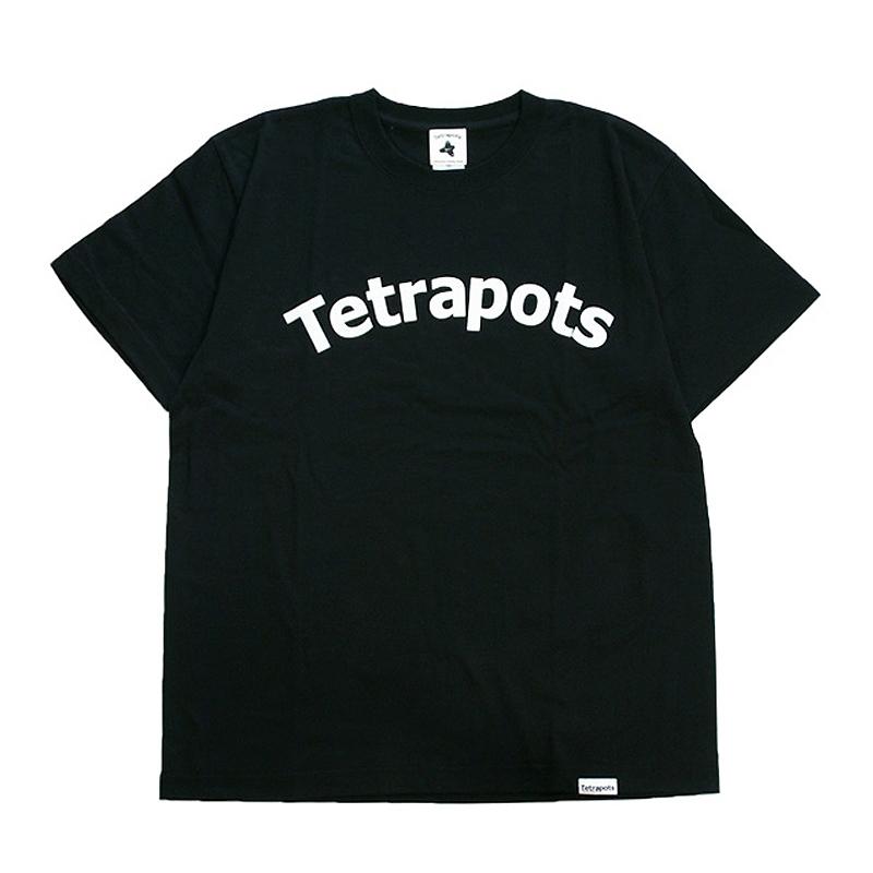 テトラポッツ(Tetrapots) LOGO TEE S ブラック TPT-029
