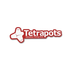 テトラポッツ(Tetrapots) Frame Logo Sticker レッド TPG-037